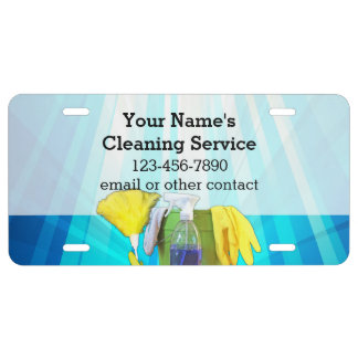Vibrant Rays Custom Cleaning Service Business License Plate