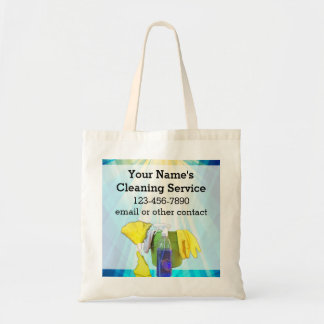 Vibrant Rays Custom Cleaning Service Business Tote Bag