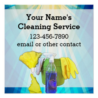 Vibrant Rays Custom Cleaning Service Business Perfect Poster