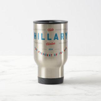 Vibrant Red & Blue Vote Hillary Clinton 15 Oz Stainless Steel Travel Mug