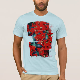 Vibrant Red Bougainvillea Flowers T-Shirt