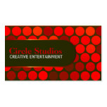 Vibrant Red Circles Club  Business Cards