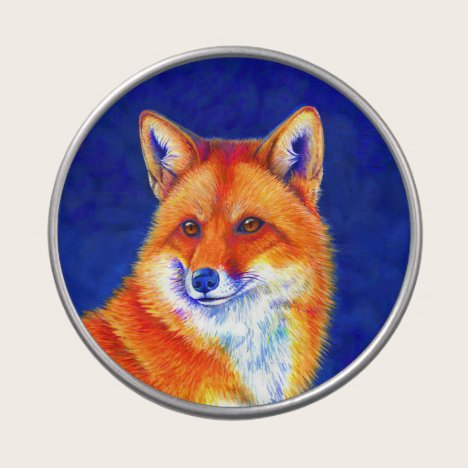 Vibrant Red Fox Candy Tin
