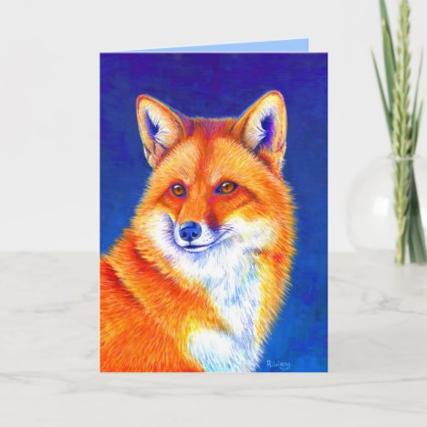 Vibrant Red Fox Greeting Card
