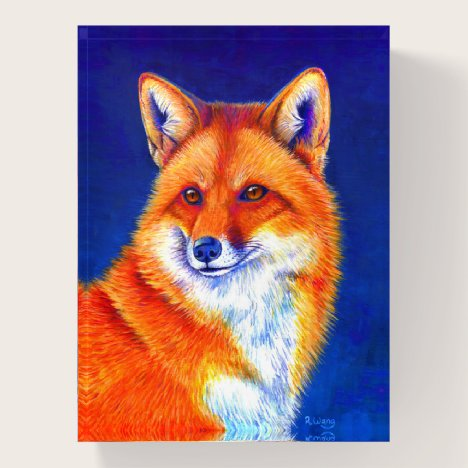 Vibrant Red Fox Paperweight