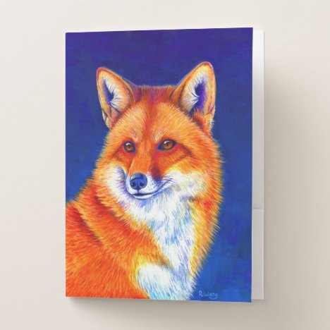 Vibrant Red Fox Pocket Folders