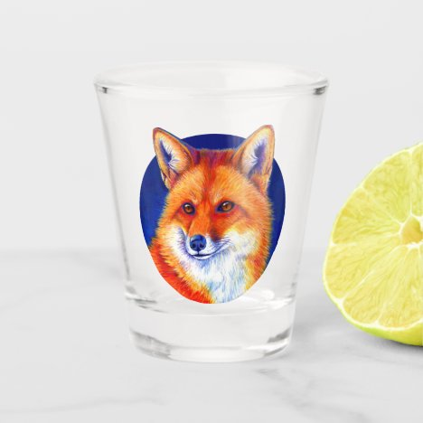 Vibrant Red Fox Shot Glass