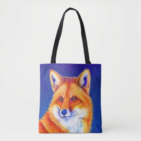 Vibrant Red Fox Tote Bag