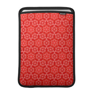 Vibrant Red Lace MacBook Sleeve