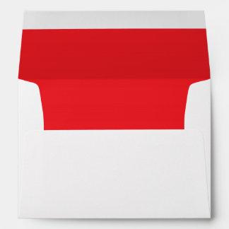 Vibrant Red Lined Envelope
