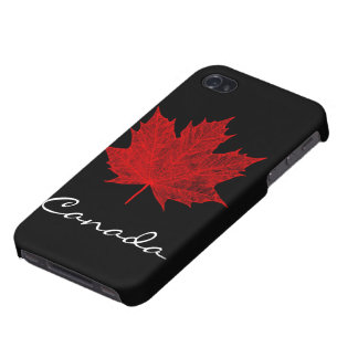 Vibrant Red Maple Leaf- Canada iPhone 4/4S Case