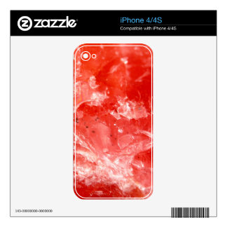 Vibrant Red Mineral Stone Decal For iPhone 4