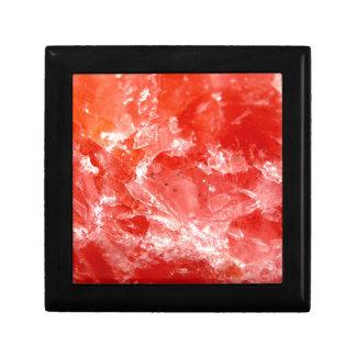 Vibrant Red Mineral Stone Jewelry Box