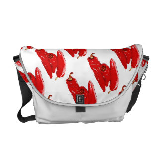 vibrant red peppers courier bag