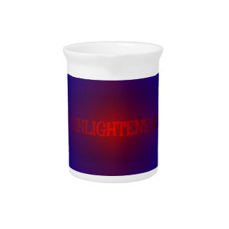 "Vibrant Red Royal Blue ""Enlightened"" Pattern Drink Pitcher"