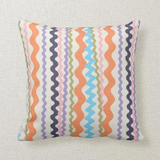 Vibrant Ric Rac Throw Pillow