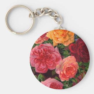 Vibrant Roses Key Chain