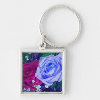 Vibrant Royal Roses Set Key Chain