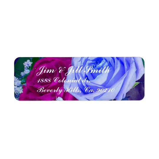 Vibrant Royal Roses Set Label