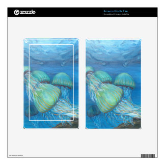 Vibrant Sea Nettle Kindle Fire Decals