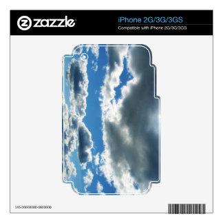 Vibrant Sky Clouds iPhone 2G Skin