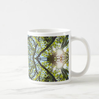 Vibrant Sky Through Trees Abstract Pattern Coffee Mug