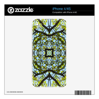 Vibrant Sky Through Trees Abstract Pattern iPhone 4S Decal