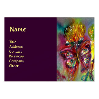 VIBRANT SPARKLING BUTTERFLIES IN BLUE,purple Large Business Card