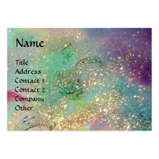 VIBRANT SPARKLING BUTTERFLIES IN BLUE,Teal Large Business Card