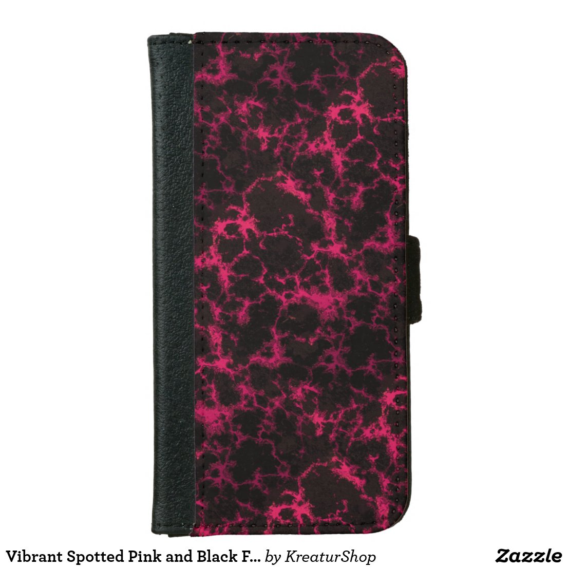 Vibrant Spotted Pink and Black Flames
