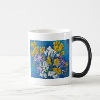 Vibrant Spring Freesia Posy Coffee Mug