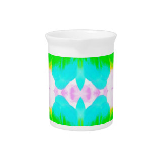 Vibrant Spring Pastels Abstract Floral Pattern Beverage Pitcher