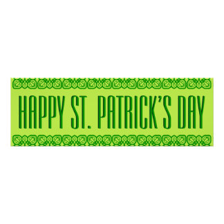 Vibrant St. Patrick's Day Banner Poster