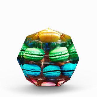 Vibrant Stacked French Macaron Cookies Acrylic Award