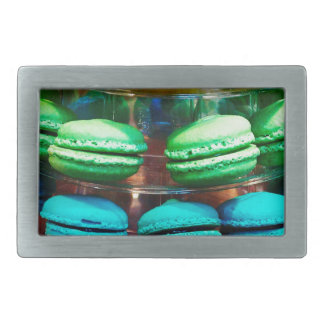 Vibrant Stacked French Macaron Cookies Belt Buckle