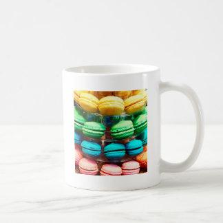 Vibrant Stacked French Macaron Cookies Coffee Mug