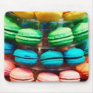 Vibrant Stacked French Macaron Cookies Mouse Pad