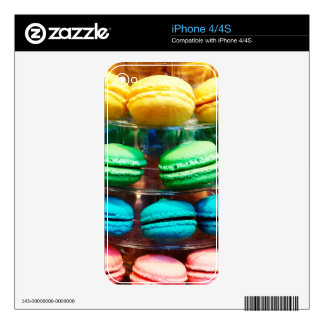 Vibrant Stacked French Macaron Cookies Skin For The iPhone 4S
