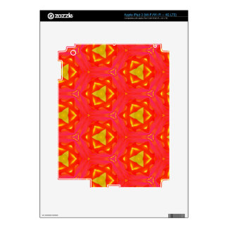 vibrant Strawberry Red Yellow Hip Modern Pattern Decals For iPad 3