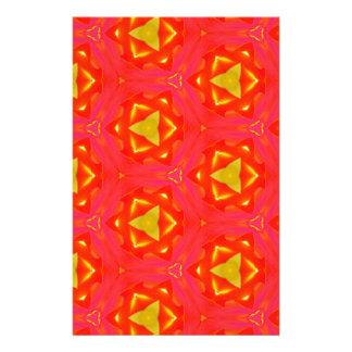 vibrant Strawberry Red Yellow Hip Modern Pattern Stationery