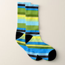 Vibrant Stripe Pattern Socks