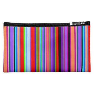 Vibrant Stripes Cosmetic Bag