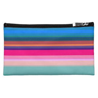 Vibrant Stripes Makeup Bag