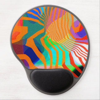 Vibrant Stripy Abstract. Gel Mouse Pad