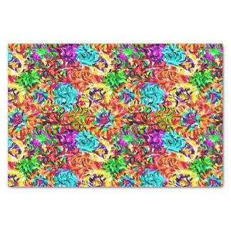 Vibrant Summer Colors Paint Splatter Pattern Tissue Paper