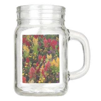 Vibrant Summer Flower Garden in Orlando Florida Mason Jar