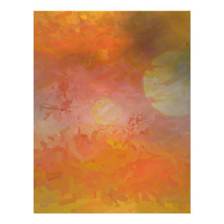 Vibrant Sun Abstract Landscape Letterhead