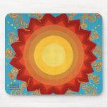 Vibrant Sun - Uplifting Sunburst Global Art Decor Mouse Pads