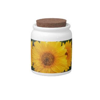 Vibrant Sunflower Candy Dish