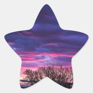 Vibrant Sunset Star Sticker